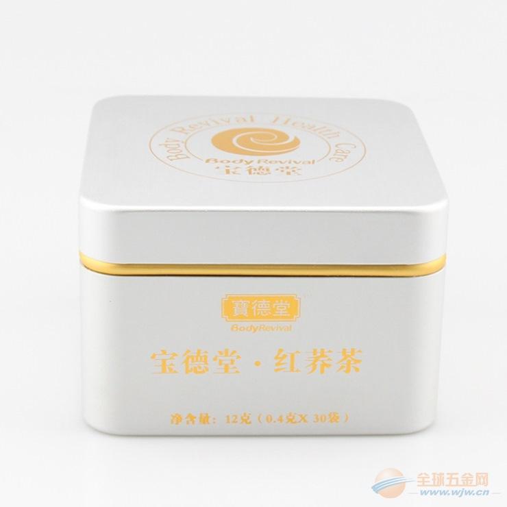 生产订做保健养生茶高档铝制金属盒 宝德堂红荞茶金属罐