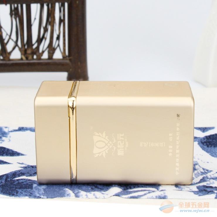 厂家订制保健药品铝盒 高档胶囊铝钛盒金 方形 燕窝金属盒装