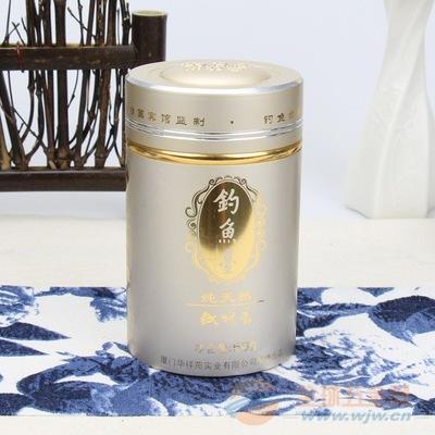 厂家订做高档茶叶铝罐华祥苑钓鱼台铝合金罐文字激凸金属茶叶罐