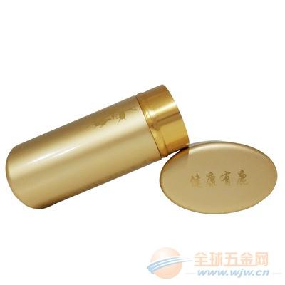 厂家订做金色铝制保健品瓶私版吉春鹿胎丸保健品铝罐生产订制