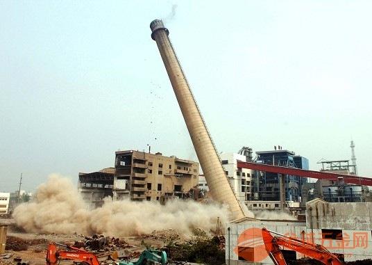 阳江人工拆除烟囱安全有保障