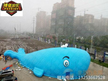 新型室外高盈利充气鲸鱼岛乐园海洋球池