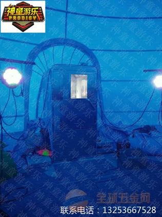 神童游乐厂家直销鲸鱼岛乐园,室外充气鲸鱼海洋球池