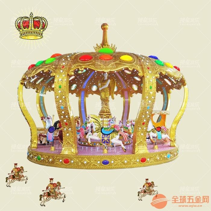 郑州神童儿童游乐设备厂家新型26座皇冠转马