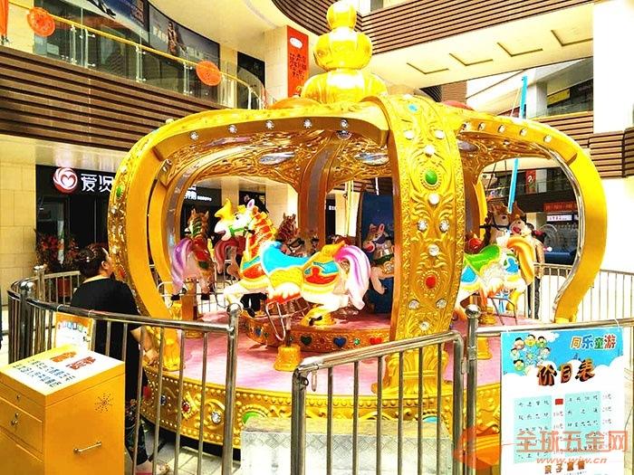 郑州神童儿童游乐设备厂家新型12座皇冠转马