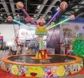 新款公园游乐设备儿童游乐儿童蹦床6人旋转蹦床