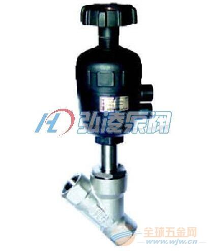 供应KST-2000Y带手动调节气动角座阀,调节气动角座阀