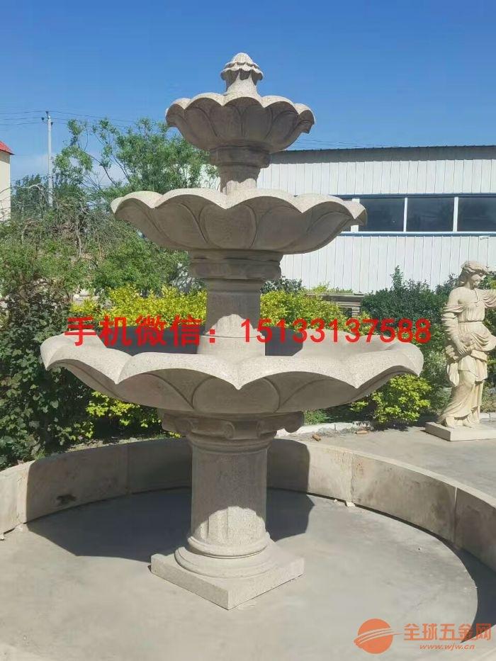 现代园林中,除了植物景观外,喷泉也是重要的景观,它既是一种水景艺术