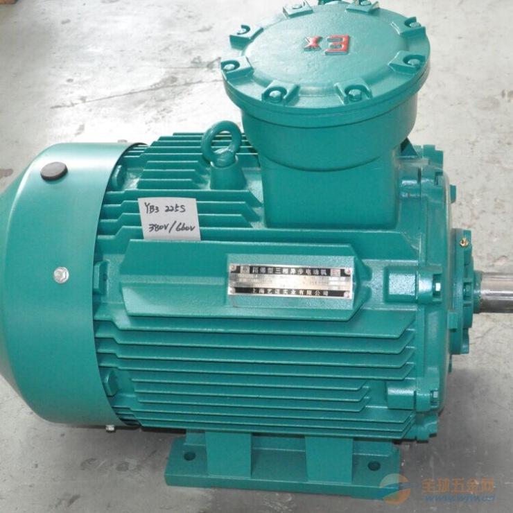 上海高效防爆电机YB3-225M-4-45KW 隔爆型电动机