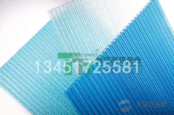 中空PC阳光板规格,阳光板价格,阳光板厚度