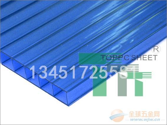 内蒙古农业温室8毫米中空PC阳光板厂家批发价格多少钱一平方米
