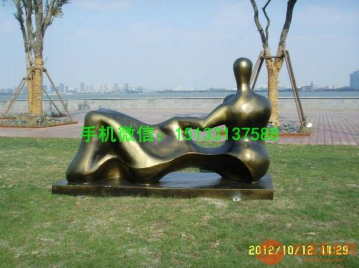人物抽象铜雕塑 公园铜雕塑