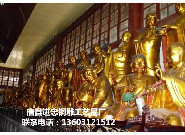 铜十八罗汉厂家,铜十八罗汉铸造,铜十八罗汉制作
