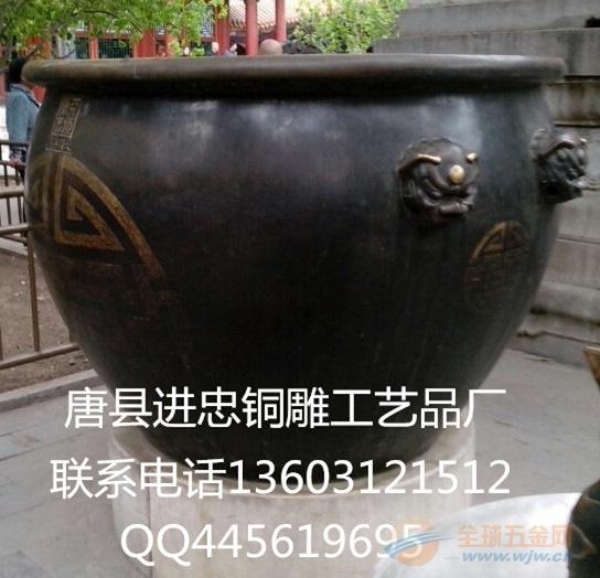 铜雕大缸制作,铜雕大缸销售,铜雕大缸摆法