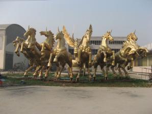 雕塑-铜雕塑-铜阿波罗战车雕塑