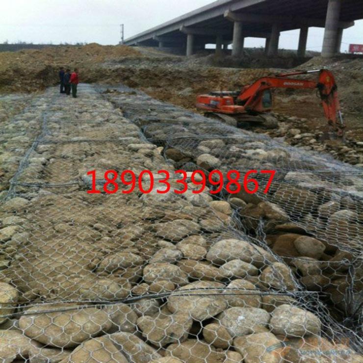 河道施工铅丝六角格宾石笼成本核算/加工石笼网厂家