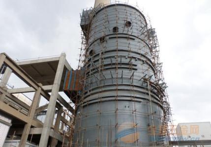 山东40m烟囱新建施工