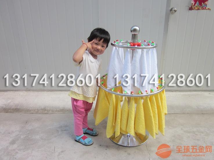 幼儿园不锈钢毛巾架圆形可旋转儿童手帕架加厚厂家直销