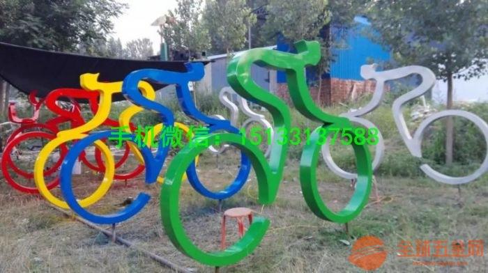 广场景观不锈钢雕塑 骑自行车雕塑 人物抽象不锈钢雕塑定制厂家