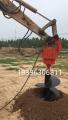 钩机改装挖坑机,挖掘机式钻坑机一机多用