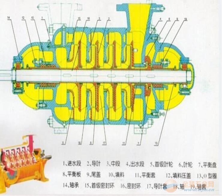 多级泵 D型多级泵结构 韩辉