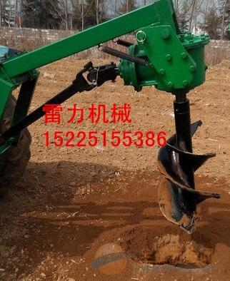 小型拖拉机种植树苗钻坑机