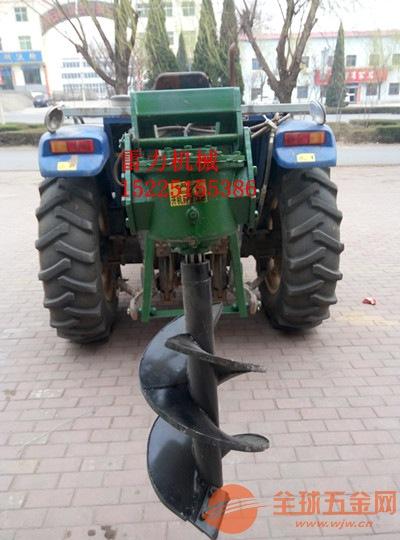 绿化植树挖坑机,拖拉机种树设备价格