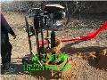 手推式自动升降挖坑机种植大树苗
