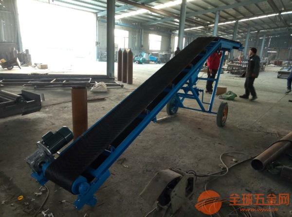 面粉水泥自动装卸车输送机 爬坡式耐磨胶带输送机