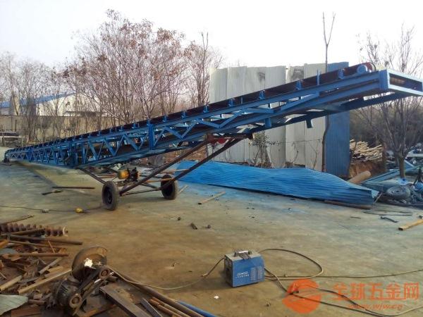 复合肥皮带传输机 方管爬坡物料输送机 多功能橡胶输送带