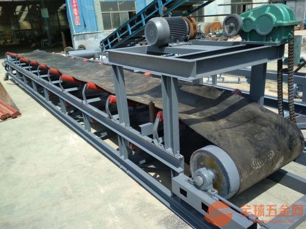 矿用石料输送带 自动升降带式上料机 高耐磨运输带
