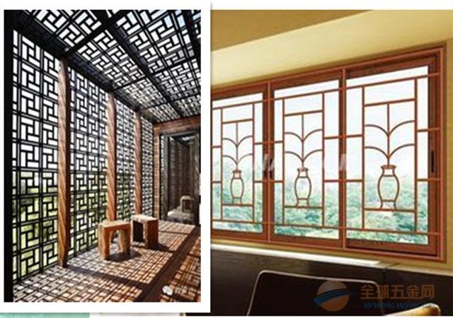 铝窗花以中国悠久的历史文化美学为设计源泉,利用现代材料,以表面处理原料,精心打造!产品耐用,防火,防潮,环保。充分诠释对古典美学的体系,也满足当代对装修项目的安全要求! 选用仿古铝窗花、木纹铝窗花,会让人感到儒雅、庄重、大气的氛围,为生活工作增添一丝淡雅的怀旧感,一份从容的古典浪漫,一种讲不明的宁静!还可依据您家居的装饰风格、色调来搭配各种相应颜色和款式的铝窗花,也可依据窗花花形,铝框颜色不同,窗花款式多样。  艺术铝窗花 铝窗花 是由优质铝材和扁条制作而成的一种新型装饰材料,因可以设计成类似于窗花的花纹