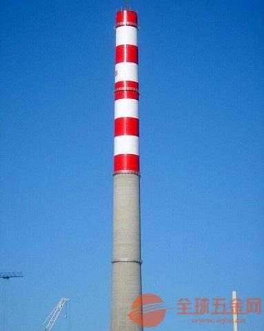 宣威120米水泥烟囱刷航标一X代理