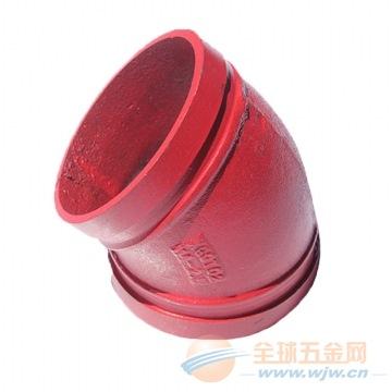 成都玛钢沟槽管件批发 耐腐蚀45度弯头价格 厂家直销
