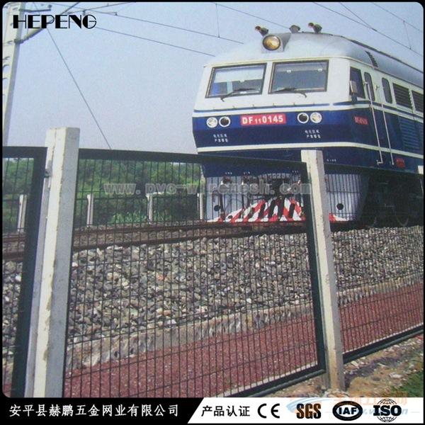 铁路隔离防护网 框架绿色铁丝网围栏