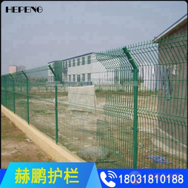 现货供应双边丝绿色铁丝网围栏