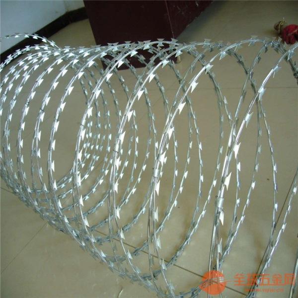 刀片防护围栏网 刺绳 俗称铁蒺藜 刺绳护栏网 刺丝隔离栅