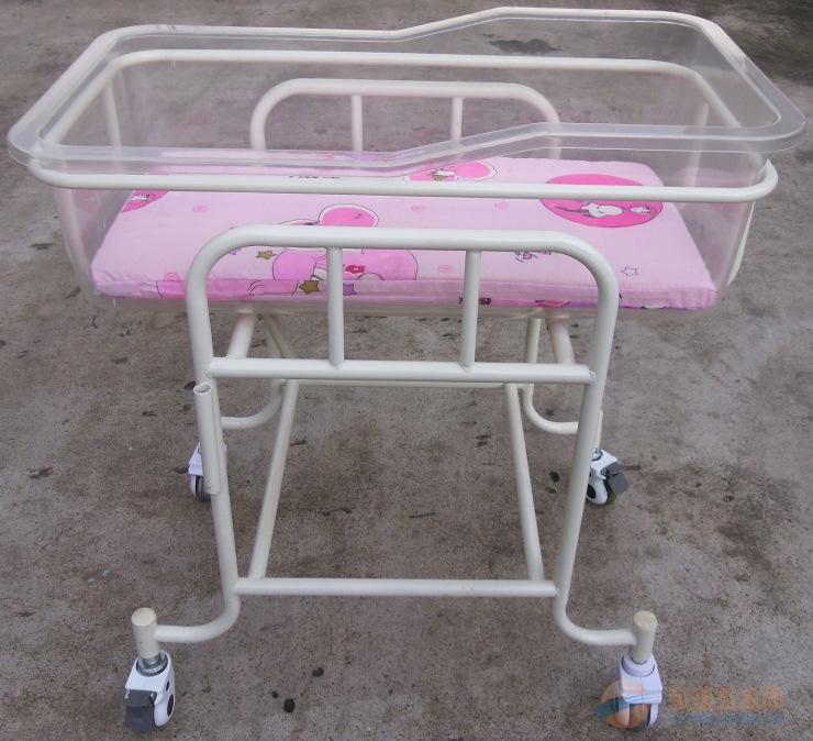 厂家热销豪华钢塑婴儿床推车 钢塑婴儿床批发