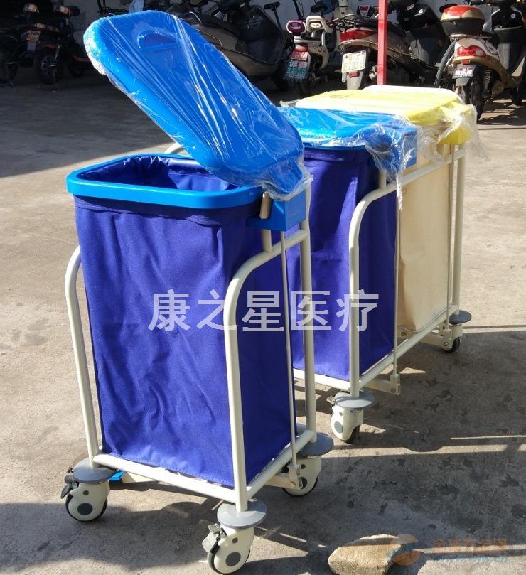 广东康之星厂家直销单双储物袋污物车 医用推车供应商