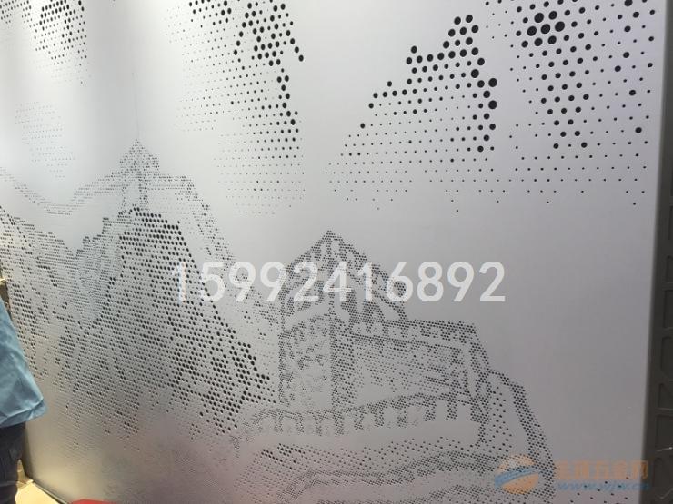 万里长城图案镂空穿孔铝单板