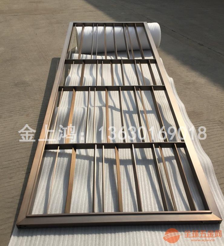 青古铜屏风、门、柜、造型、线条-海口金域蓝湾别墅项目