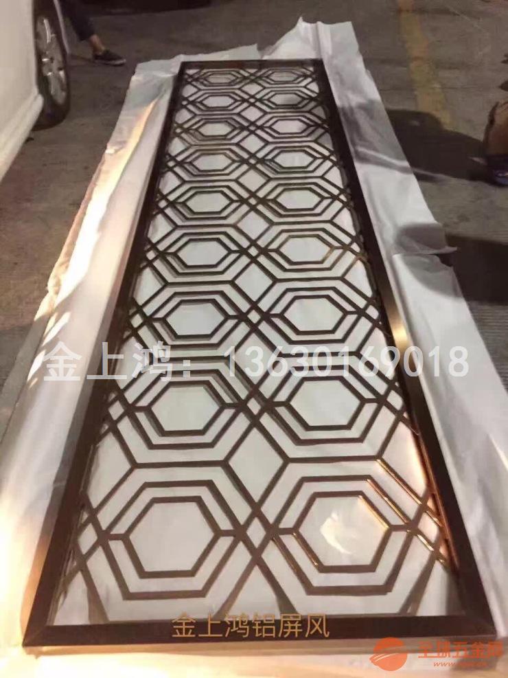 六边形回字格铝屏风-博德展厅用