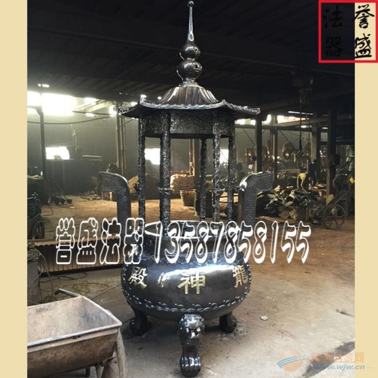 【香炉图片】铜香炉-铜圆形香炉-铜寺庙六龙柱香炉