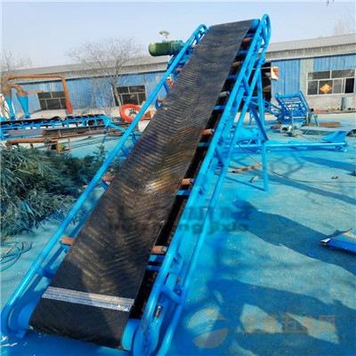 500mm 装卸货皮带输送机 大型槽钢土方传送机