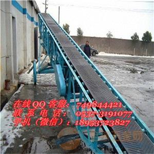 简易式皮带传送机  两相电爬坡运输机 肥料专用装车皮带机