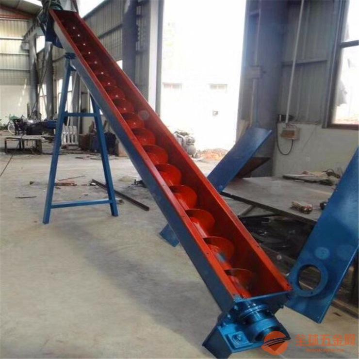 16管径6米长倾斜移动螺旋提升机
