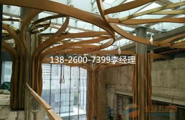 通 异型铝方通吊顶效果图