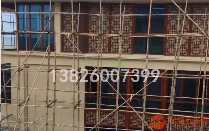 外墙装饰木纹铝方管焊接铝窗花