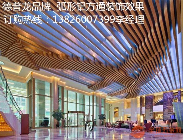 广州立面弧形木纹铝方管哪家有现货销售