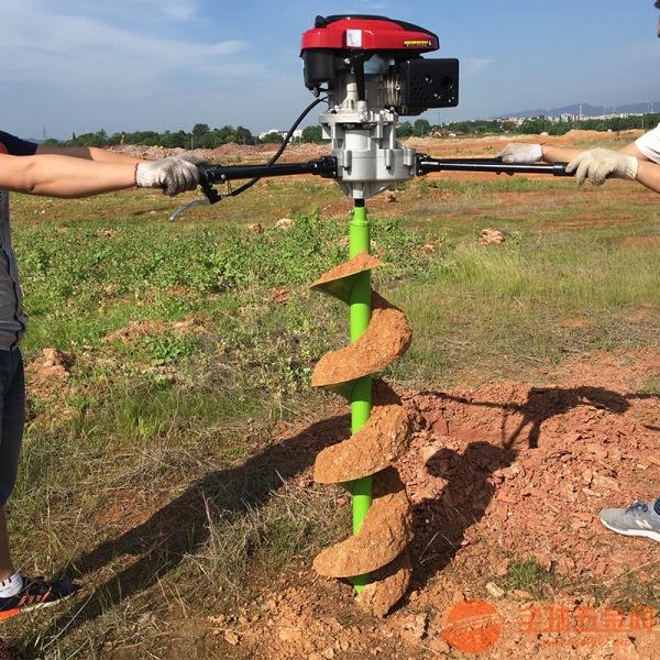 果树施肥挖坑机 篱笆埋桩打坑机